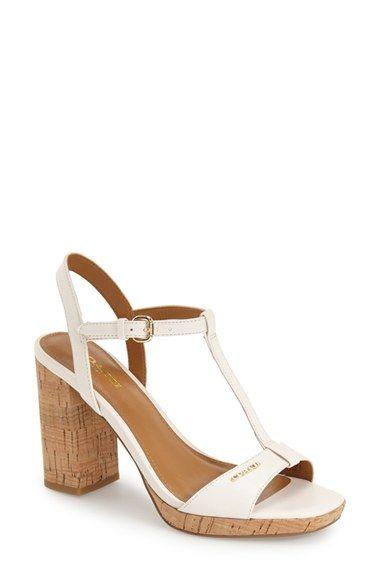 b66efbacbd7d COACH  Brianna  T-Strap Block Heel Sandal (Women).  coach  shoes  sandals