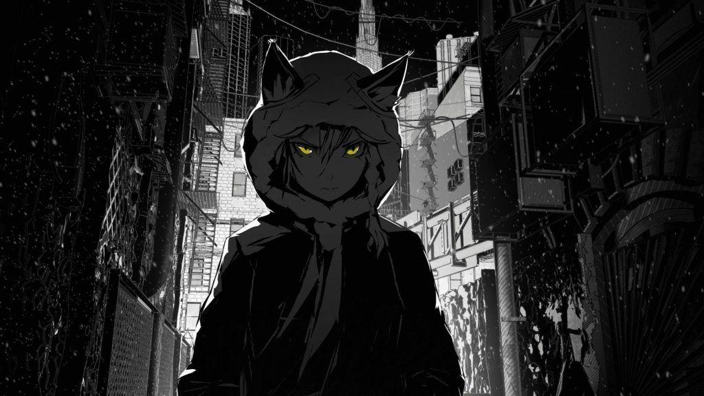 Black anime wallpaper 4k