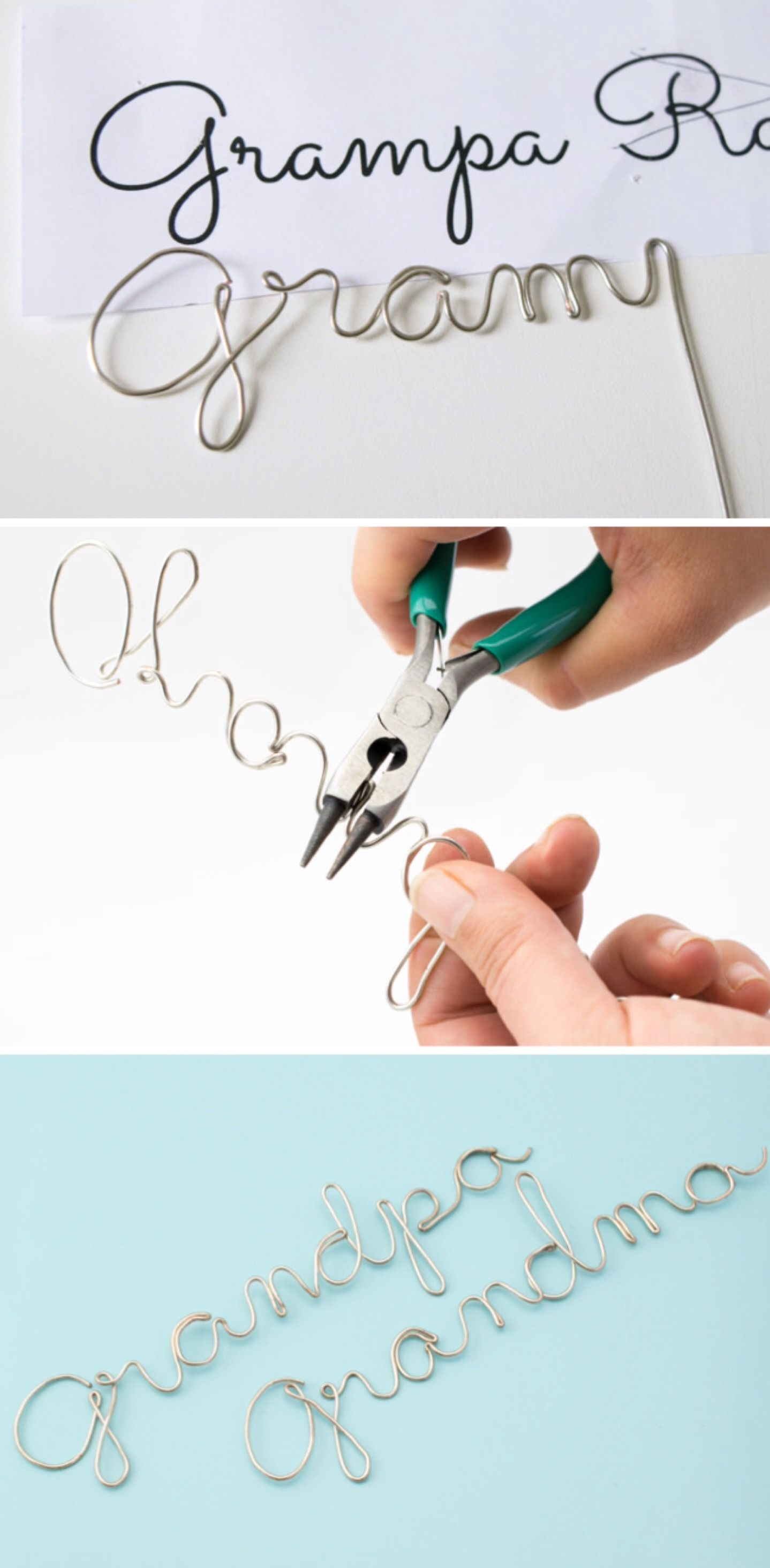 Wire Craft - Wrapping Wire to Make any Word or Name - | Pinterest ...