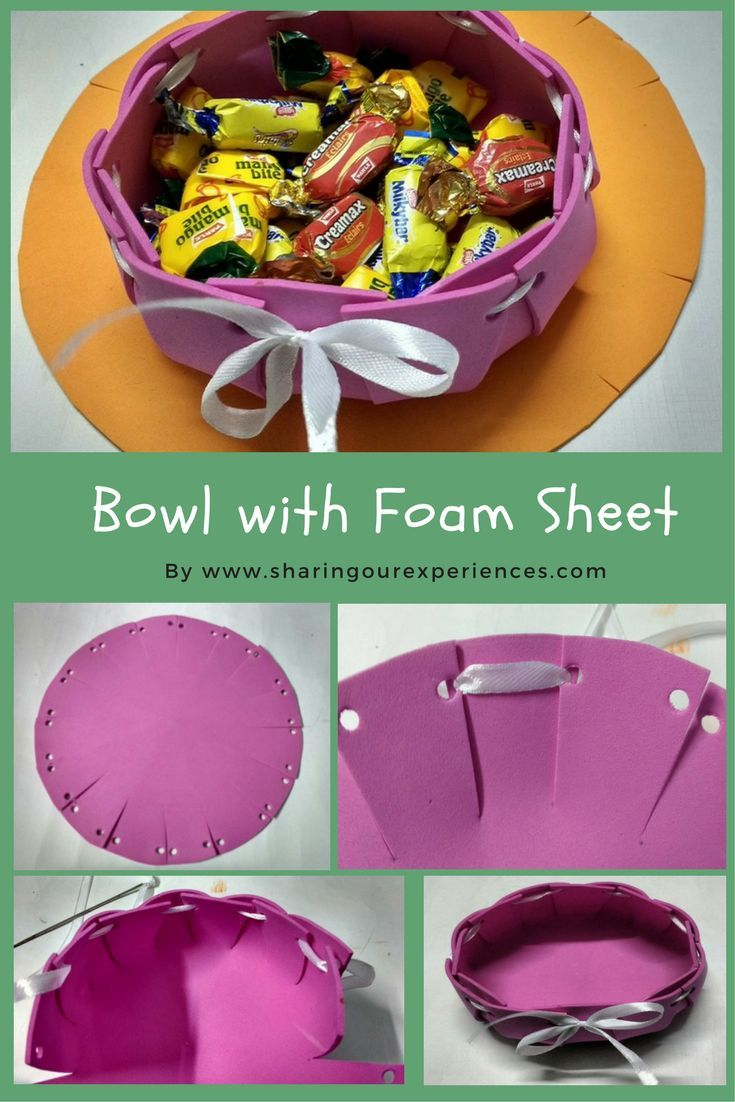 DIY Bowl with Foam Sheet