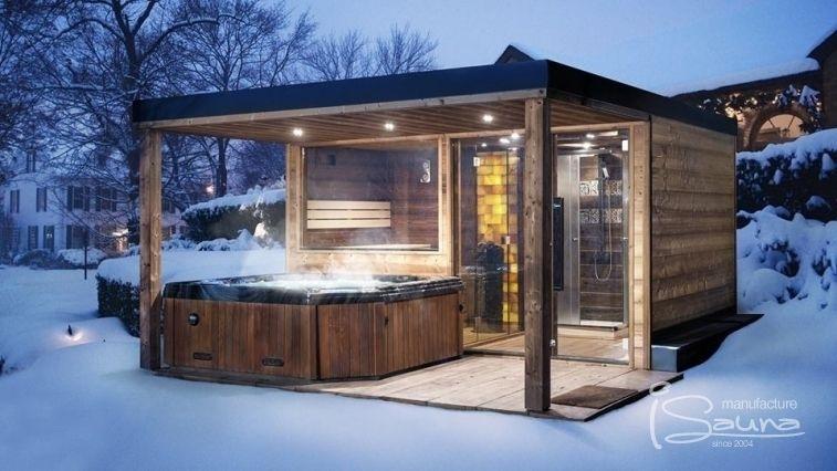 Outdoor sauna building design outdoor sauna production. combined