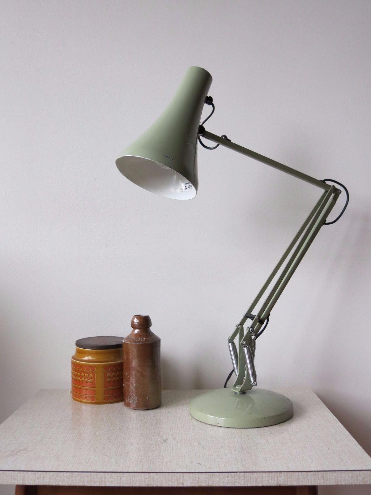 Vintage Fern Green Anglepoise Model 90 Desk Lamp