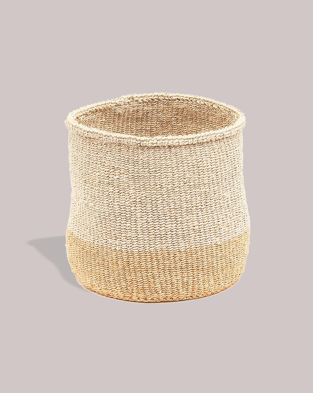 Mbili Storage Basket Large - Two Tone / Natural