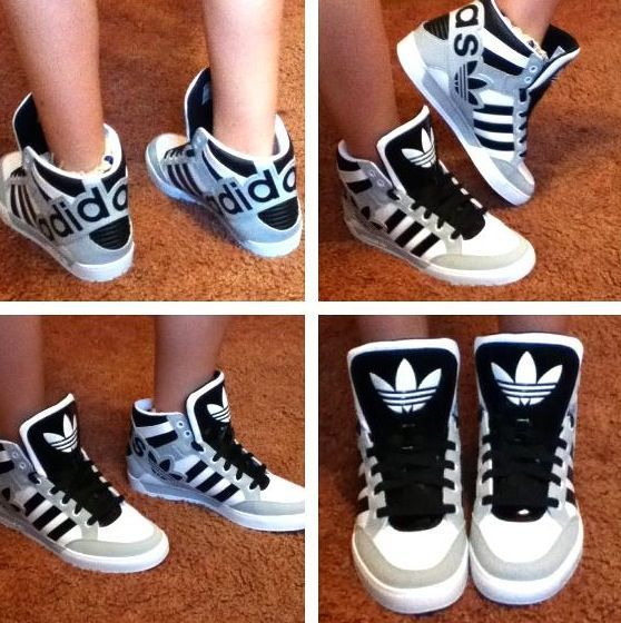 new style ca609 068b3 Linda L. Servais on | fashion inspiration | Adidas high tops ...