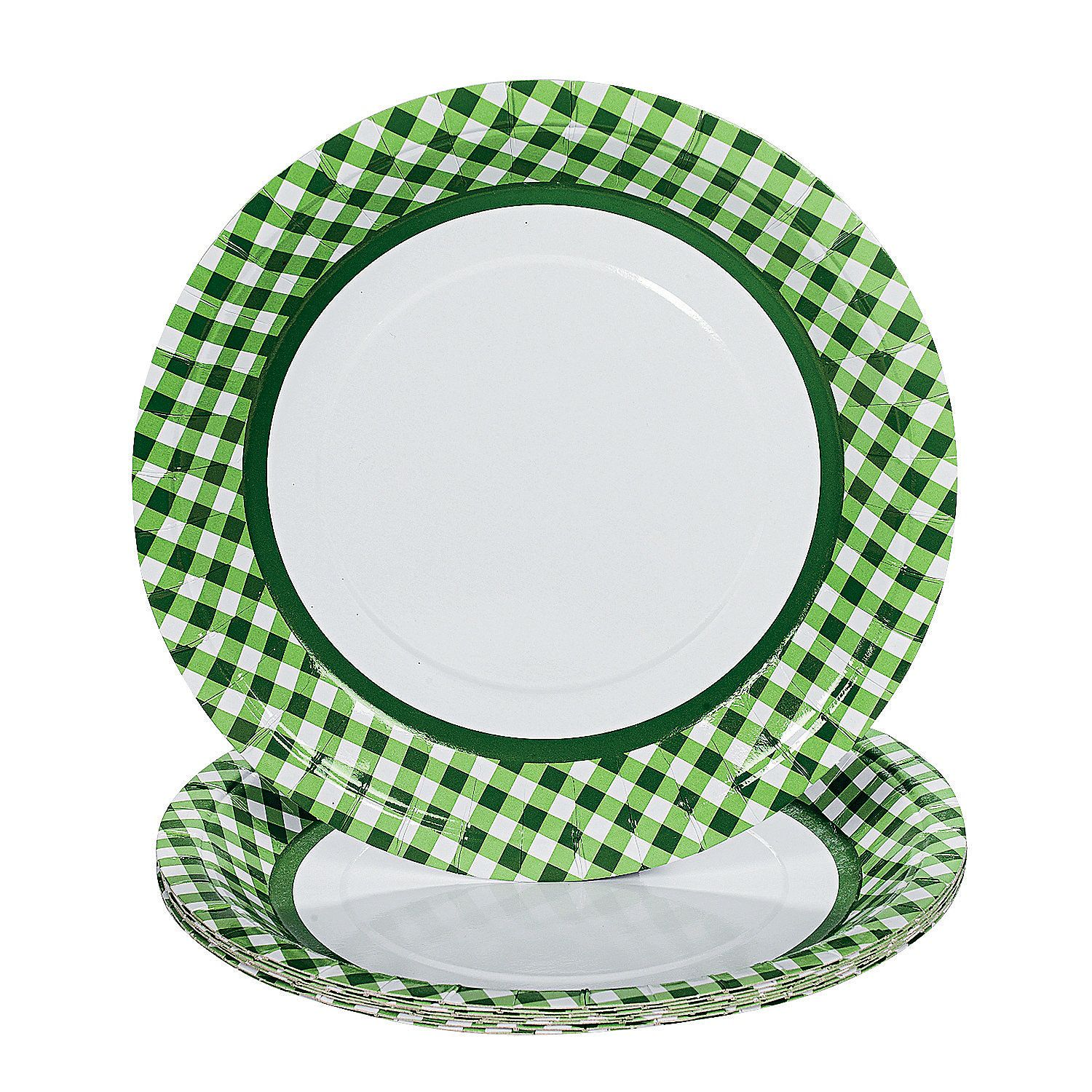 Green Gingham Paper Dinner Plates  sc 1 st  Pinterest & Green Gingham Paper Dinner Plates | Gingham Dinners and Italian party