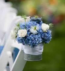 cute wedding isle chair decoration idea