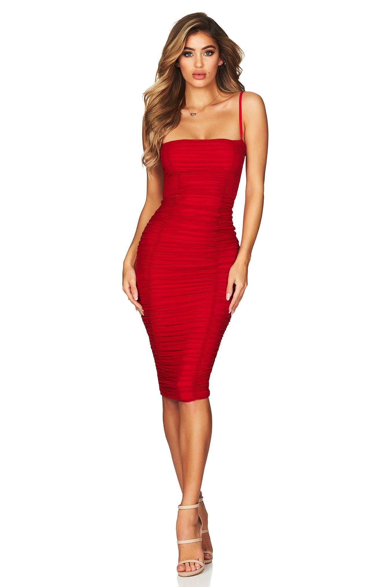28726ff7bf424 Black Mystic Mesh Midi : Buy Designer Dresses Online at Nookie ...