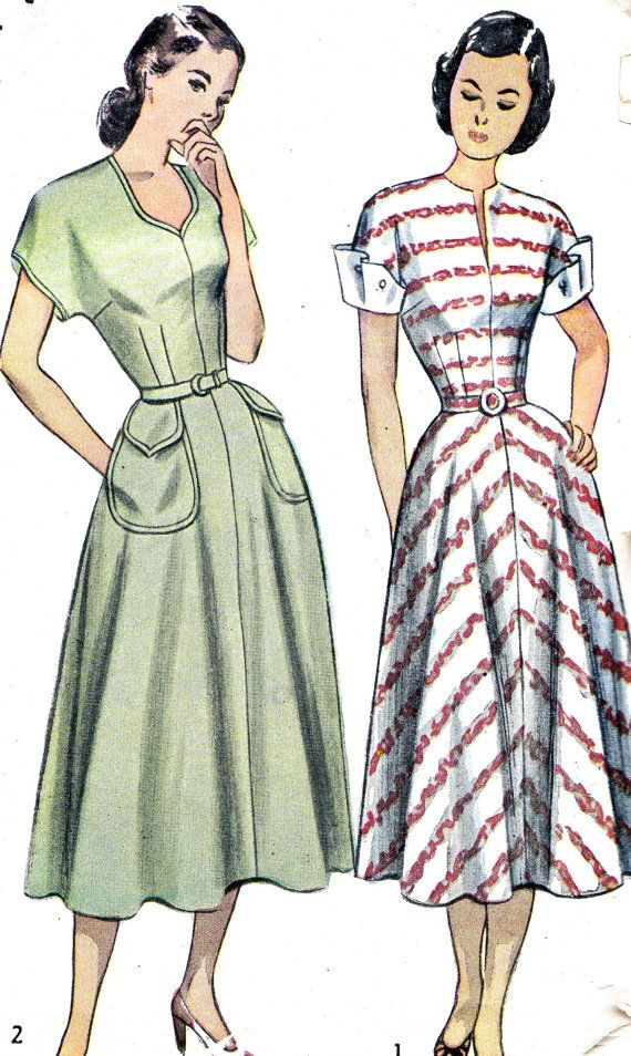 Sew Something Vintage 1940s Fashion: Vintage Sewing Pattern 1940s Simplicity 2394 Dress By