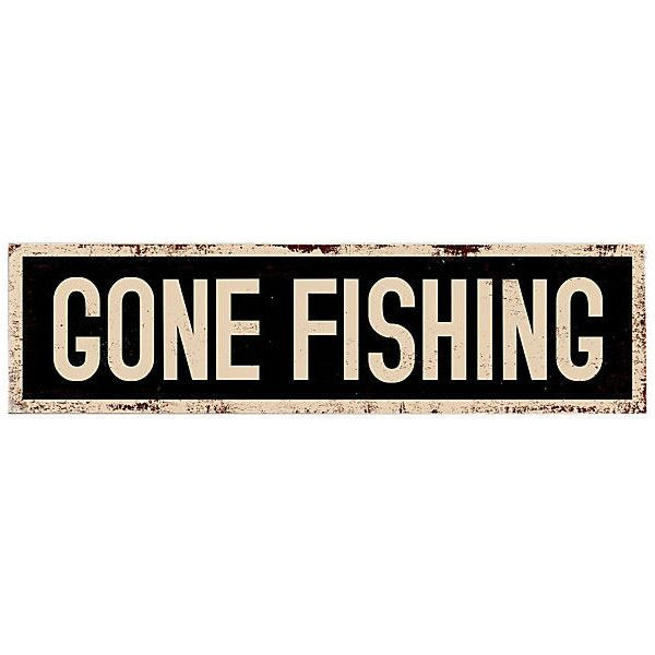 Gone Fishing Signs Decor Gone Fishing Wood Sign $29 ❤ Liked On Polyvore Featuring Home