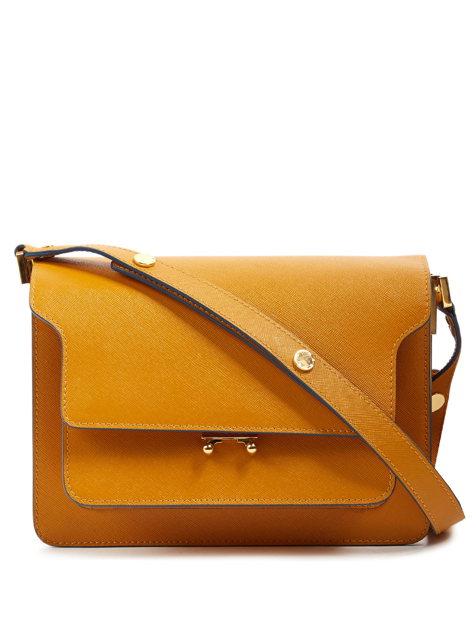 Click here to buy Marni Trunk medium saffiano-leather shoulder bag ...
