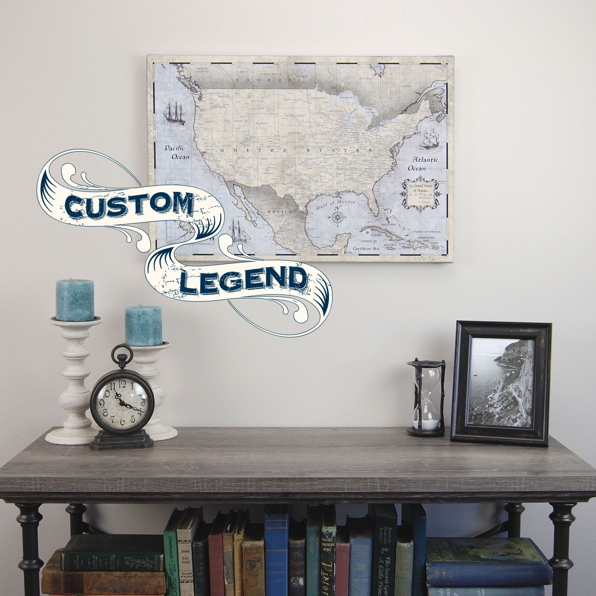 Personalized USA Travel Map Pin Board X With Push Pins - Usa travel map with pins