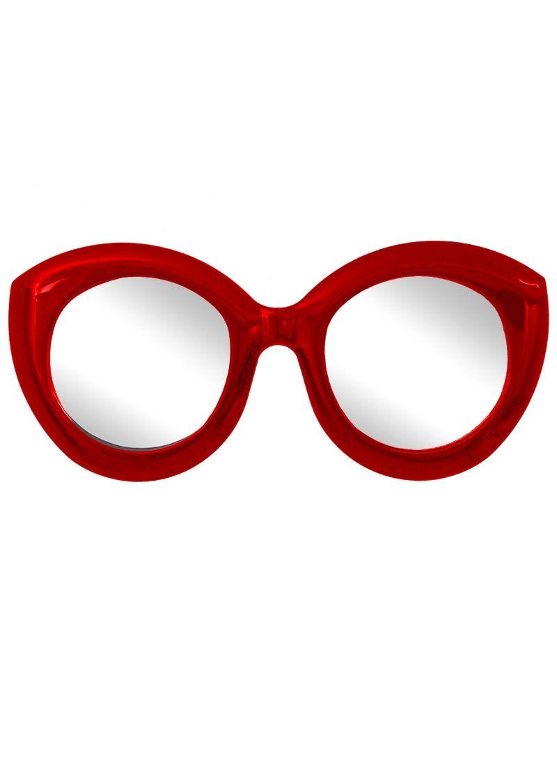 Ein Außergewöhnliche Doppel Spiegel Von Unique Made, überrascht Durch Die  Ausgefallene Optik Eine Brille Und