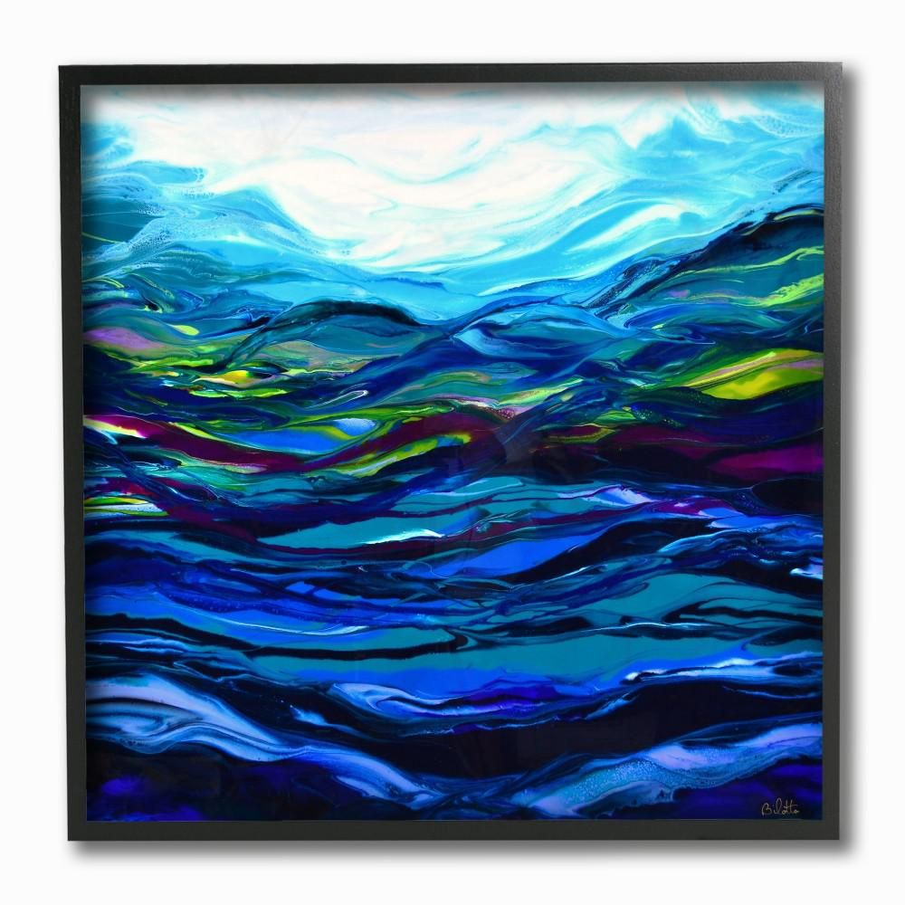 Stupell Industries 12 in. x 12 in. Acrylic Resin Waves Under Water Ripples Abstract by Barbara Bilotta Framed Wall Art ccp-227_fr_12x12 #waterripples