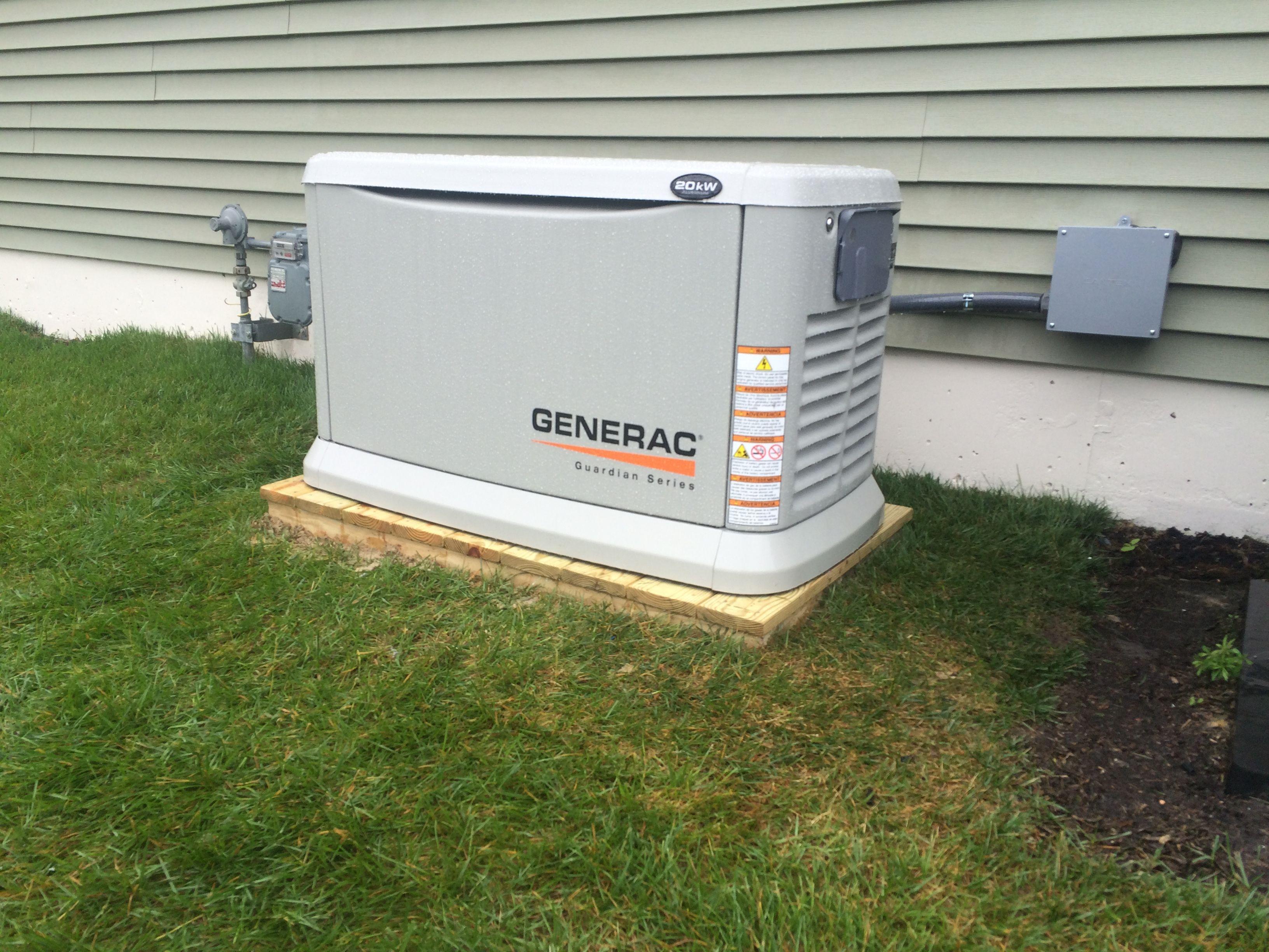 20kw Generac Generator On A Salt Treated Platform Installation Home Appliances Washing Machine