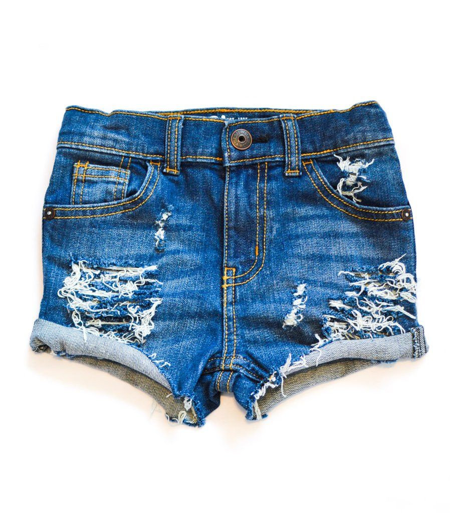 Distressed Toddler shorts for girls. These ripped jean ...
