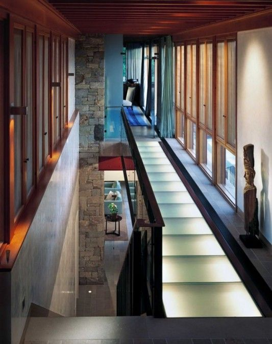 modern contemporary stone house renovation stairs design ideas