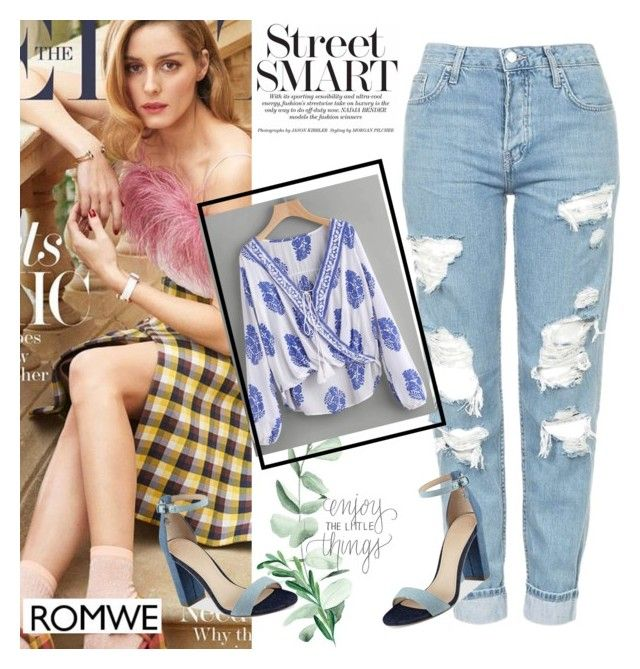 """Romwe"" by merasofija ❤ liked on Polyvore featuring Topshop and GUESS"