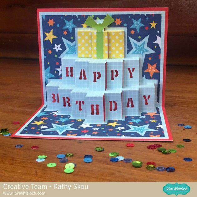 Pop Up Birthday Card With Kathy Happy Birthday Cards Happy Birthday Cards Diy Handmade Birthday Cards