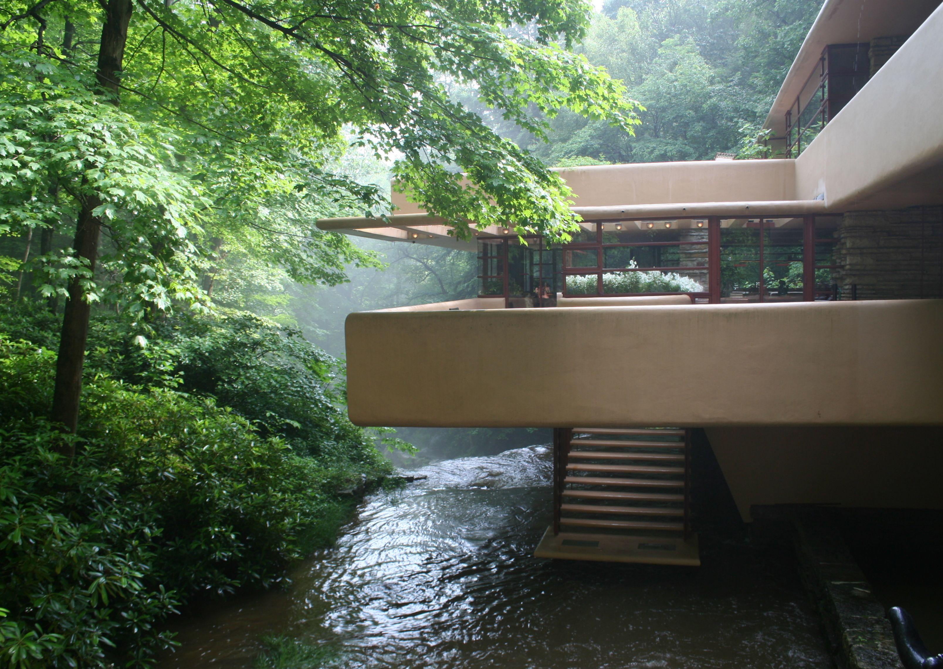 besser Vielzahl von Designs und Farben heißer verkauf authentisch Kaufman House (Falling Water), 1936-38, Frank Lloyd Wright ...