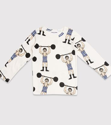 Mini Rodini Weightlifter Longsleeve T-Shirt