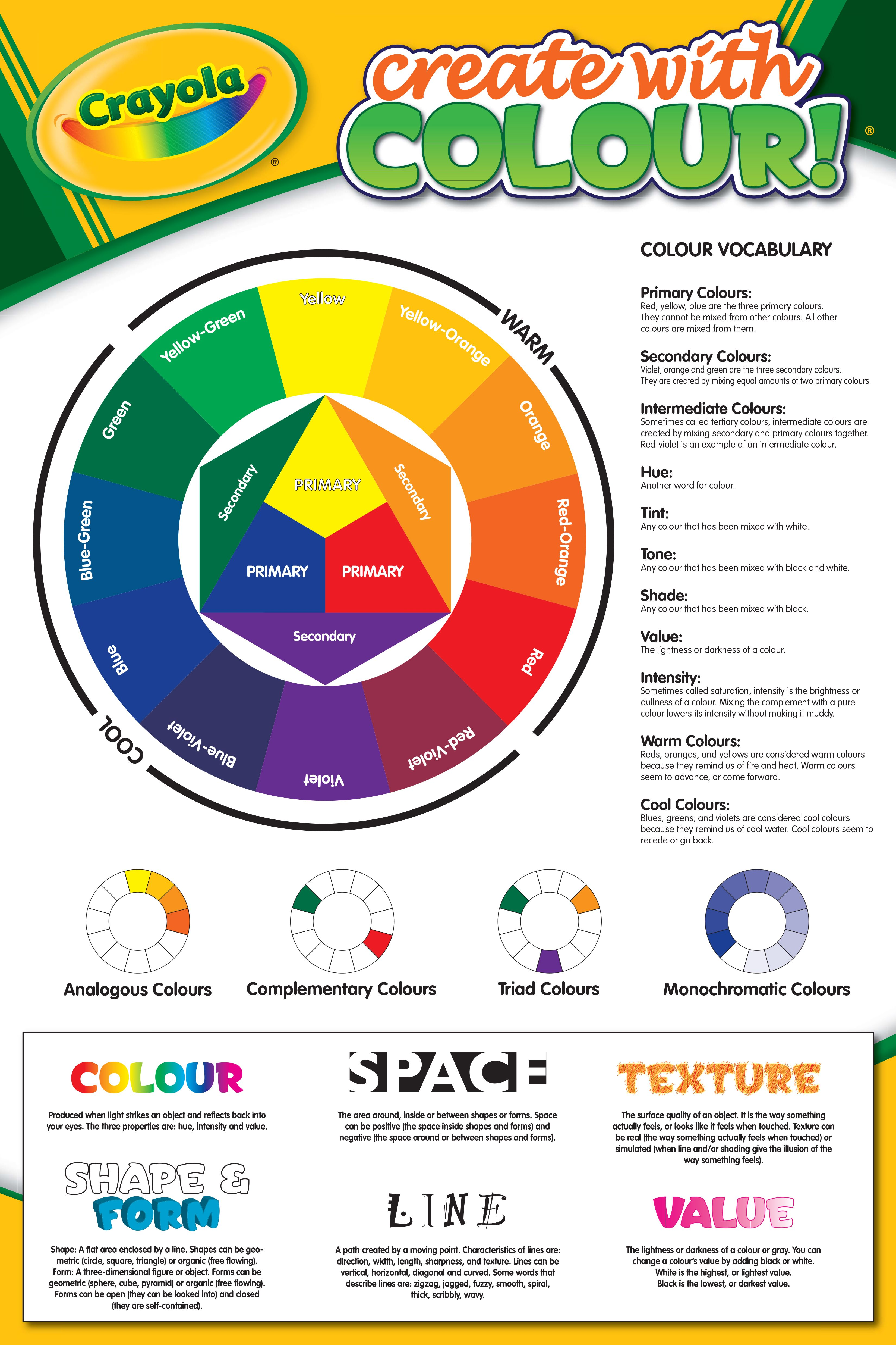 Crayola S Create With Colour Color Wheel Basics
