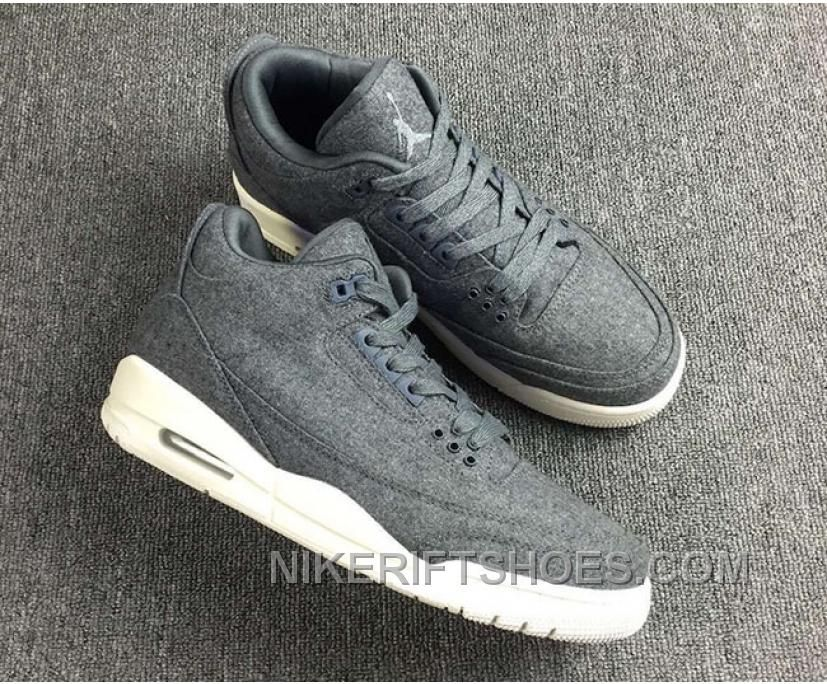 half off e53fd 56e35 Air Jordan 3 Retro Wool Dark 854263-004 Authentic NfKtf