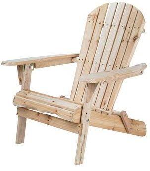 This Foldable Adirondack Chair is made out of Fir wood