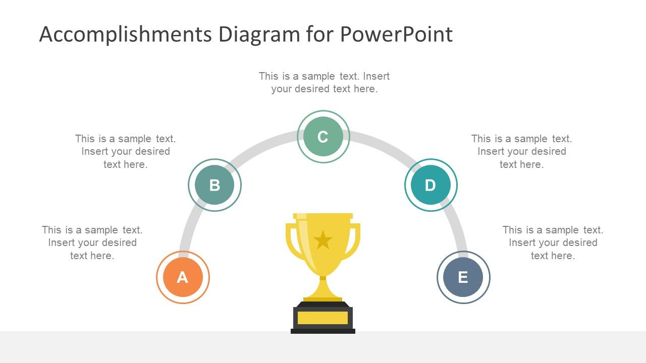 Accomplishments Diagram For Powerpoint Slidemodel Powerpoint Accomplishment Powerpoint Design