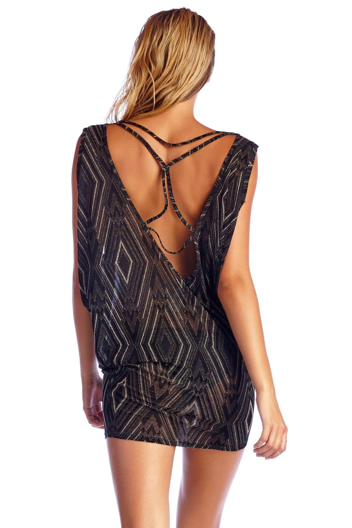 Vitamin aus black diamond crochet dress everything but water on