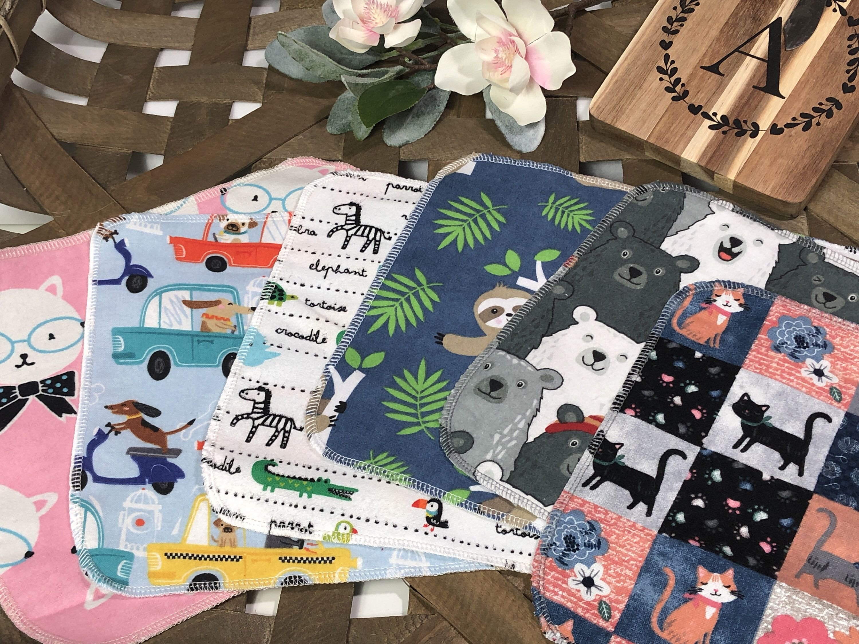 06 KIDS Cloth Napkins RANDON PRINT, Mixed // Paperless Towels, Unpaper Towels, Reusable Paper Towels #clothnapkins