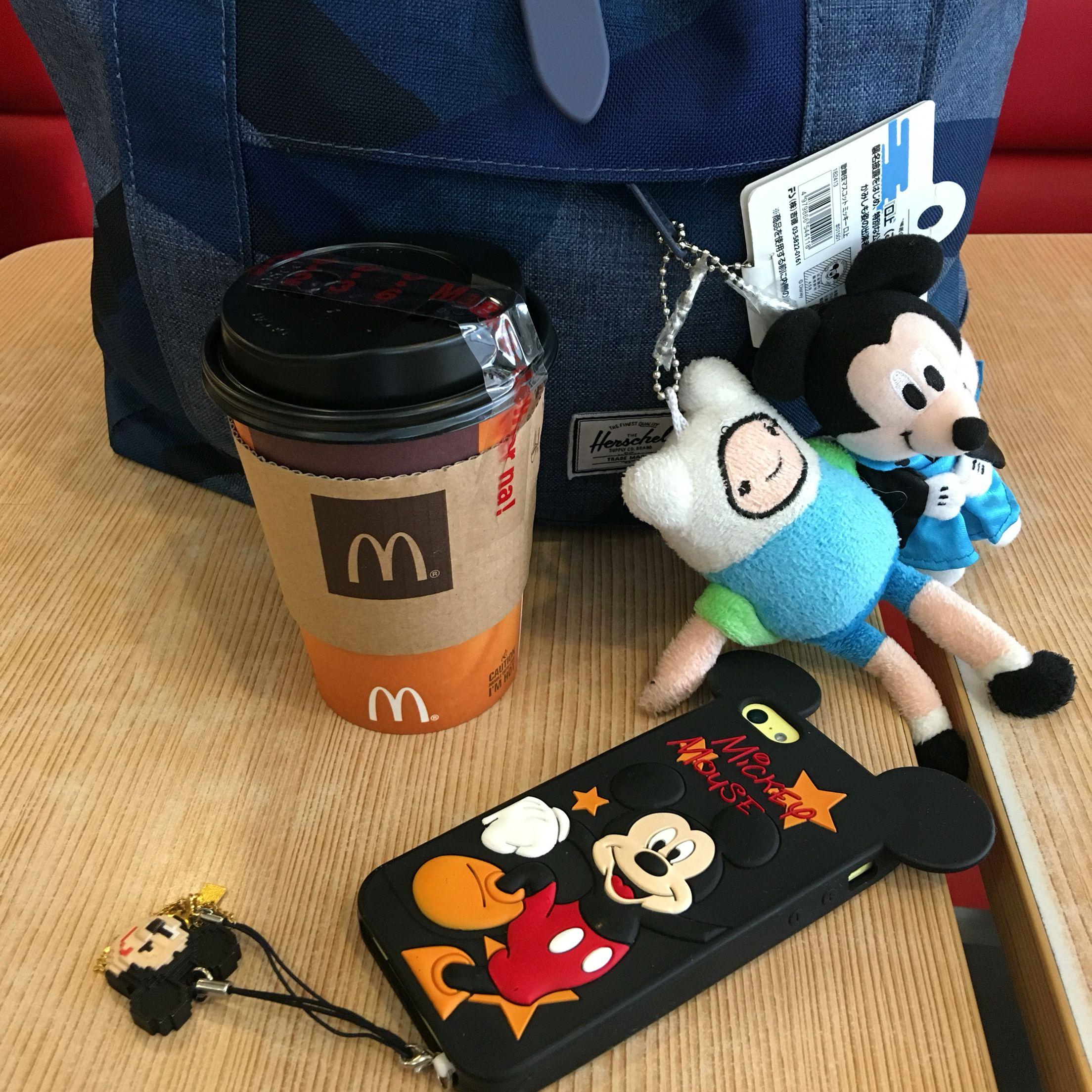 McDonald's Coffee love, Pokemon, Mickey mouse