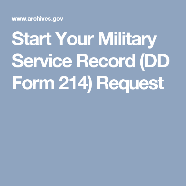 Start Your Military Service Record Dd Form  Request  History