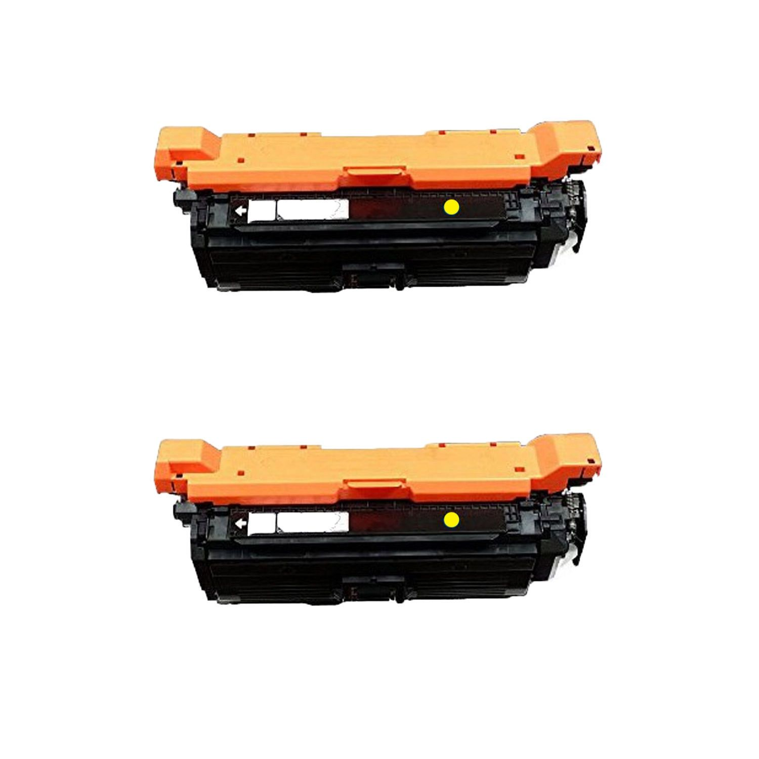 N 2PK Compatible CF322A 653A Toner Cartridges for HP Color LaserJet Enterprise MFP M680F