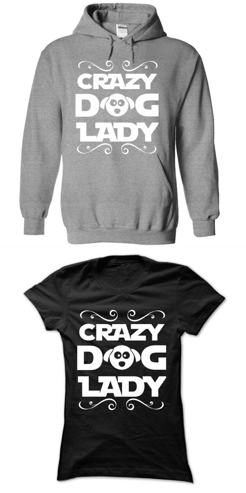 Crazy Dog Lady For Self Confessed Dog Loving Ladies Dog T Shirts