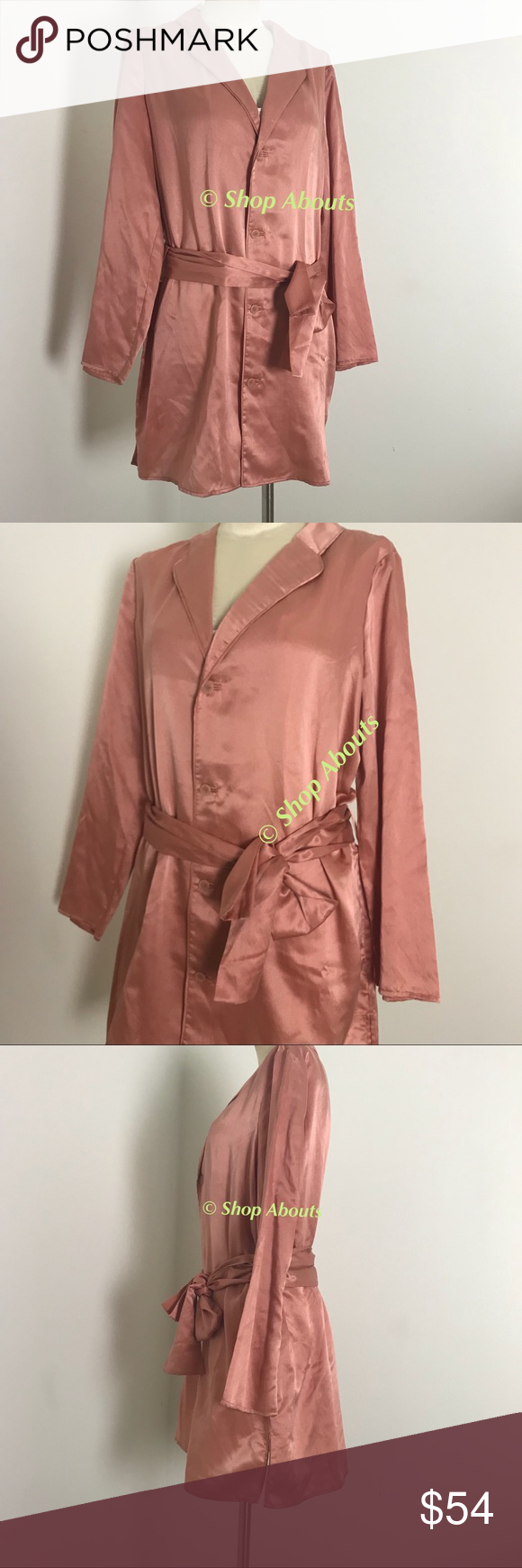 Kate Spade Lux Silk Cotton Short Robe New with Tags 50% Silk 50% Cotton 8165242ee