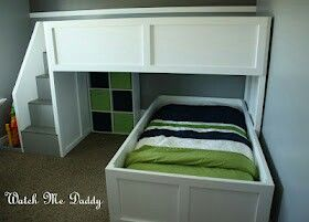 Diy Bunk Bed With Removable Bottom Stairs Diy Bunk Bed Bunk