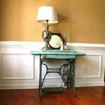 25 ideas para convertir una antigua m quina de coser en un encantador mueble vintage mesa - Mesa maquina coser singer ...