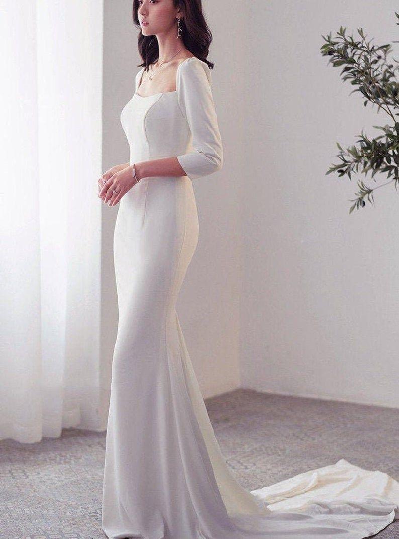 36+ Square neckline wedding dress for sale ideas