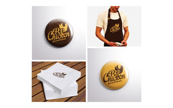 PopChicken Gourmet Express  // Identity by IndustriaHED™ Branding Co., via Behance