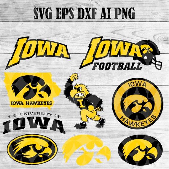 University Of Iowa Hawkeyes Svg Team Logo Svg Png Eps Dxf Cricut Collegiate Ncaa Banner Shirt Decal Iowa Hawkeyes Hawkeyes Iowa Hawkeye