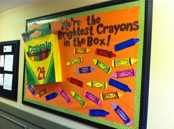 the brightest crayons in the box bulletin board bulletin boards