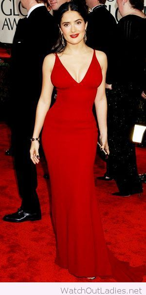 Very Long Red Dress With A Red Lipstick Too Long Red Dress
