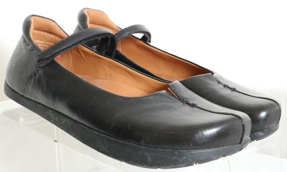 682d7377b36a0 Kalso Earth Shoe Solar Black Negative Heel Mary Jane Flats Women's ...