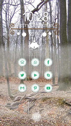"""Here is a piece within the forest, it can be seen here walking traces rarely attractive, full of natural ecological atmosphere. You see, bare branches, have long been covered with branches and leaves above ground, the golden one. A layer of misty fog, quietly in the forest rises from the surrounding scenery began to cover up.<br><b>Cobo Themes are designed for <a href=""""https://play.google.com/store/apps/details?id=app.cobo.launcher&referrer=utm_source%3Dgptheme""""> Cobo Launcher…"""