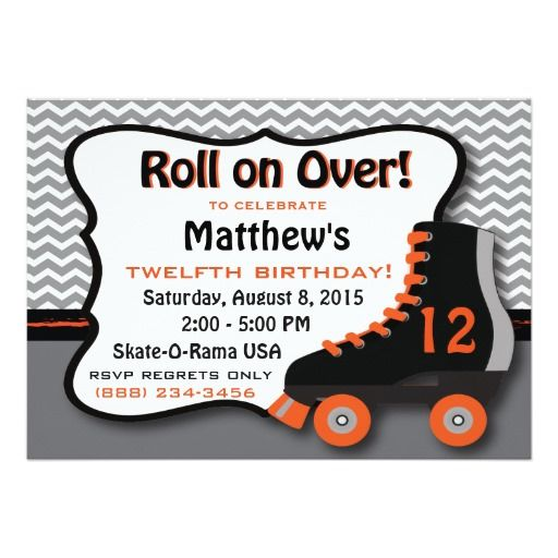 Roller Skate Birthday Party Invitation – Free Printable Roller Skating Party Invitations