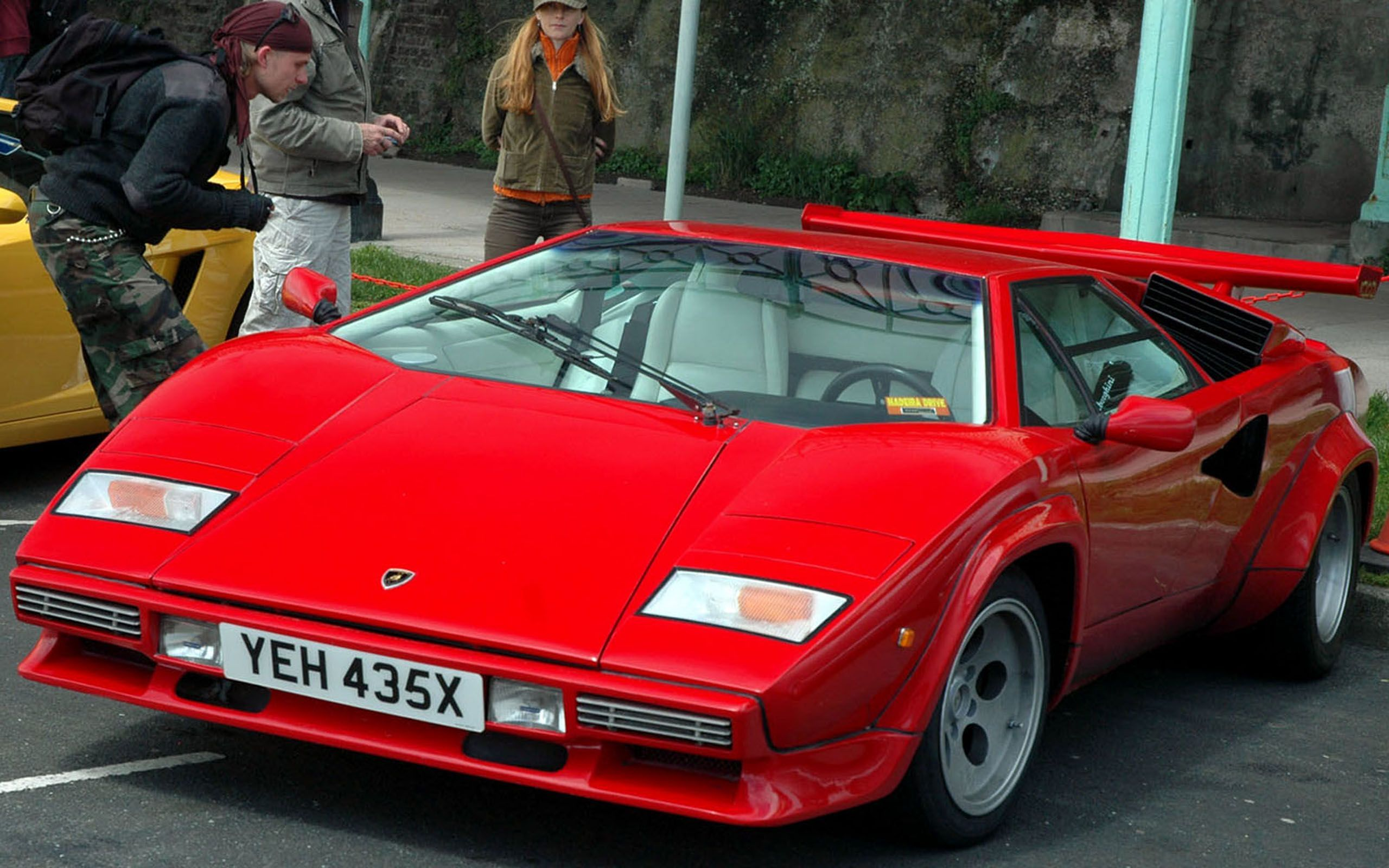 Lamborghini Countach Red With White Leather Interior Awesome