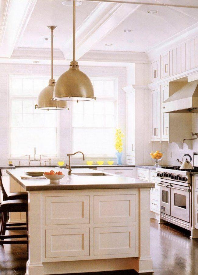 weiße einrichtung ideen kücheninsel designs traditionell | Küche ...