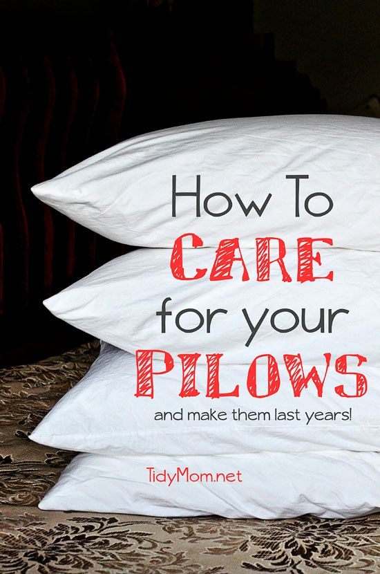 How to clean and care for your pillows at TidyMom.net