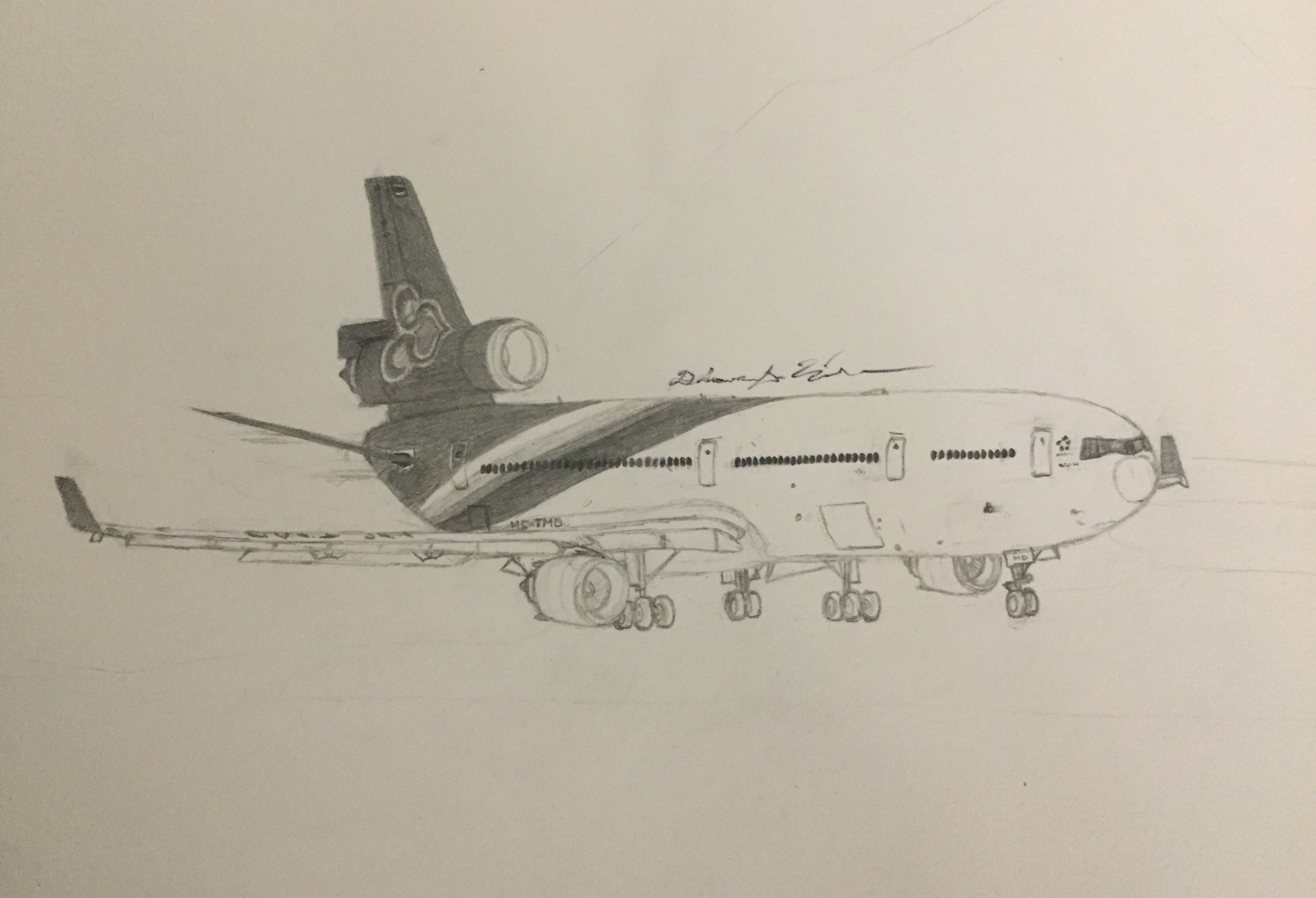 Thai Airways International McDonnell-Douglas MD-11 in progress