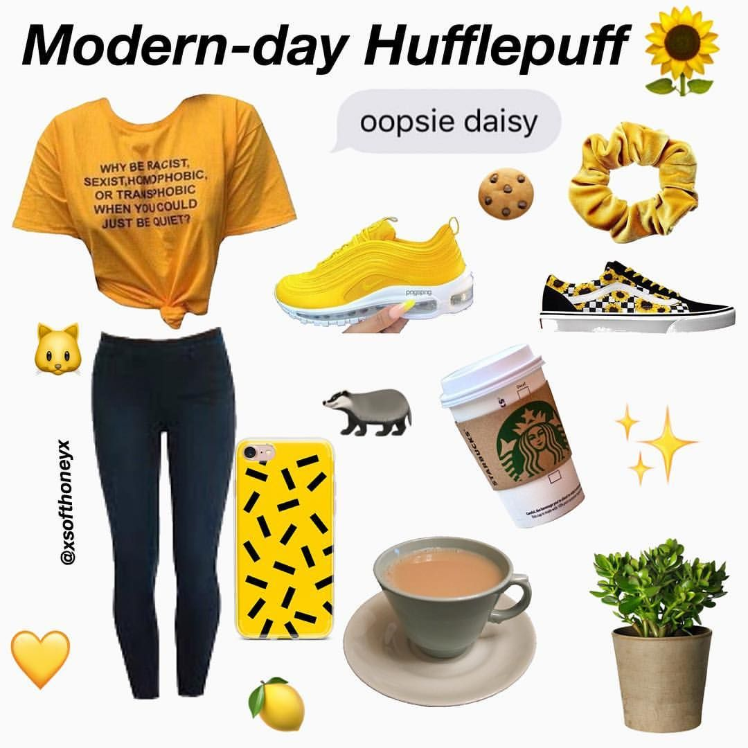 And Finally Gryffindor Hope You Liked My Modern Day Hogwarts Houses Niche Nichememe Nich Harry Potter Outfits Hogwarts Outfits Hufflepuff Outfit